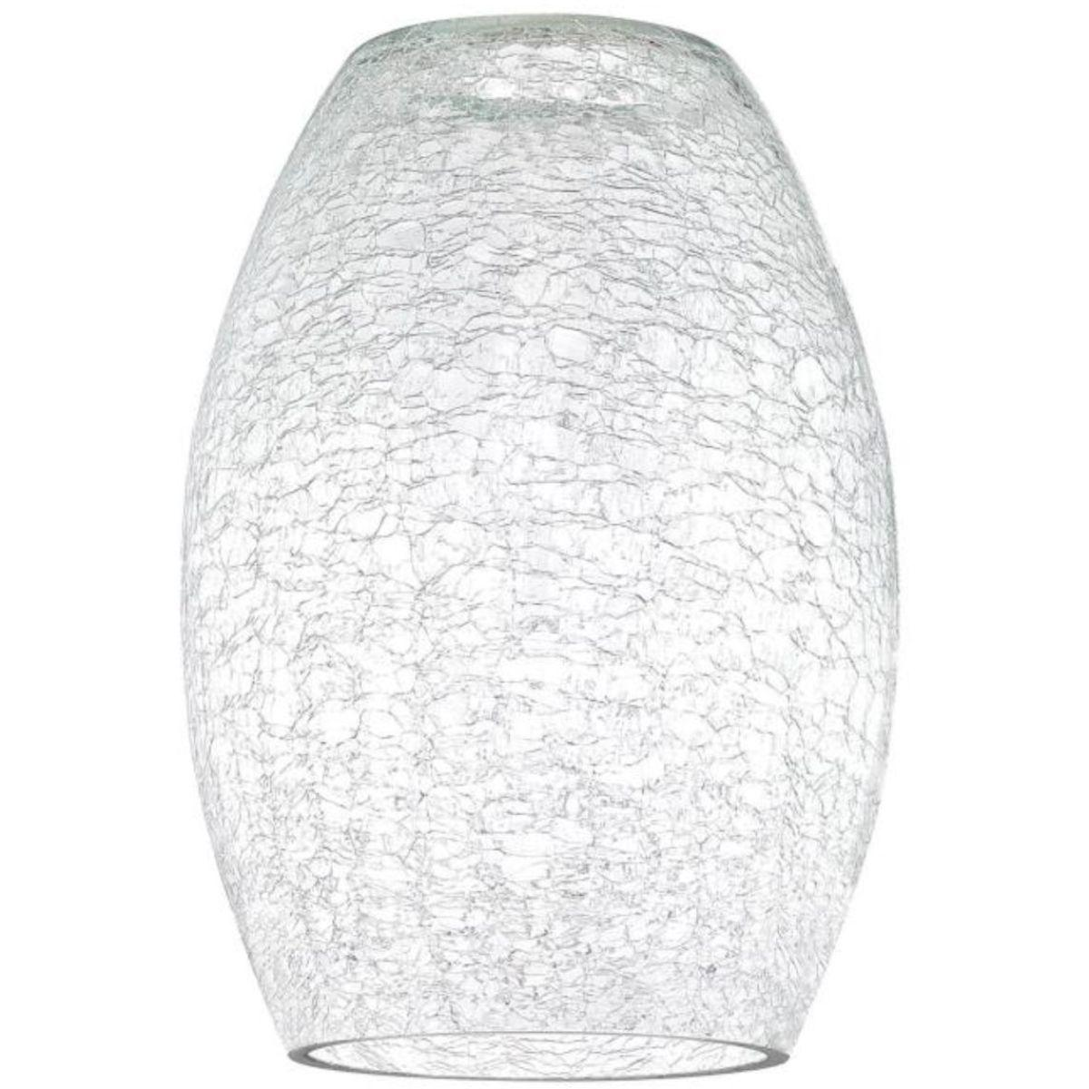 9 in. Round Clear Crackle Glass Shade with 2-1/4 in. Fitter - Clear Finish