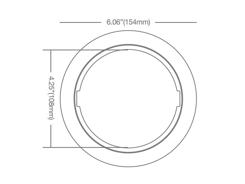 Green Creative 97847 4 Goof Ring for Thin-Fit 4 LED Downlight for Thin-Fit 4 LED Downlight