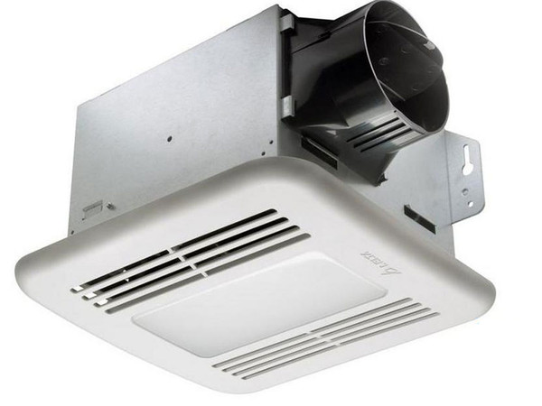 Bathroom Exhaust Fan with Light - 80 CFM - 0.8 Sones - 4 in. Duct