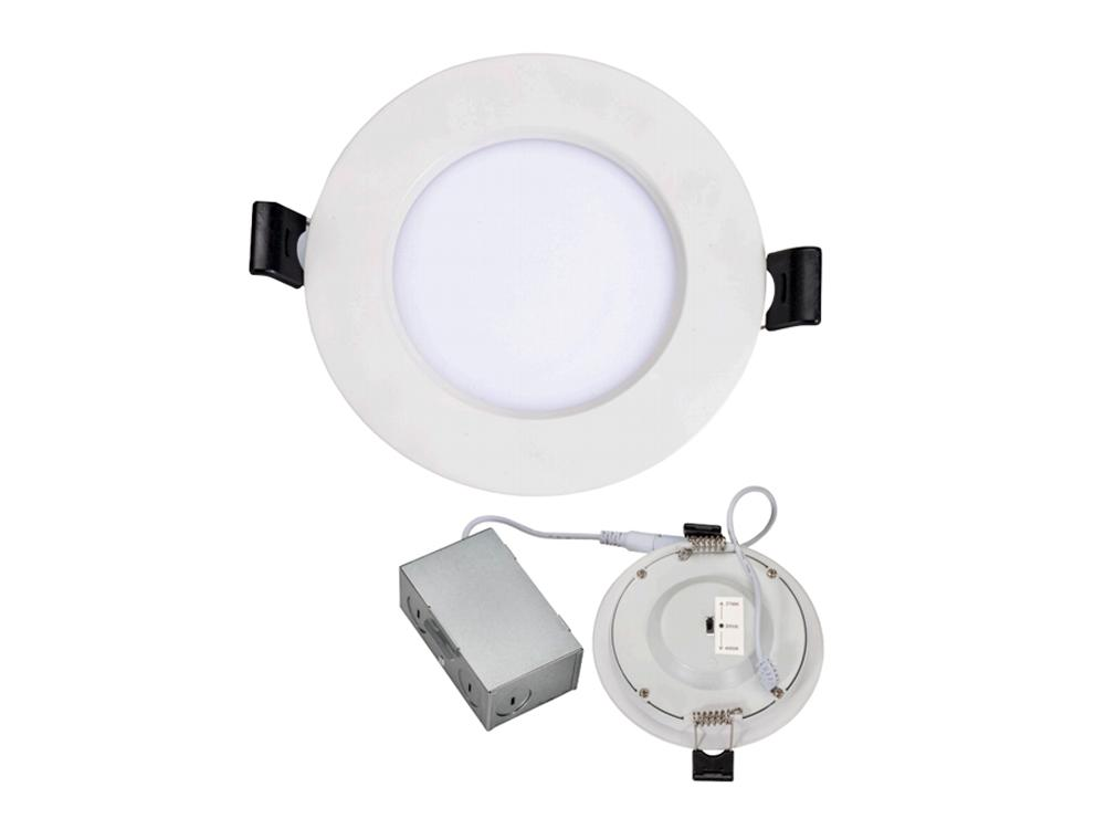 6 in - 75W Equal - LED Ultra Thin Downlight - Canless - 850 Lumens - 12W - Tunable White - White